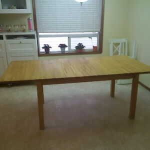 Butcher Block Kitchen Dining Table