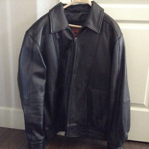 Leather mans jacket