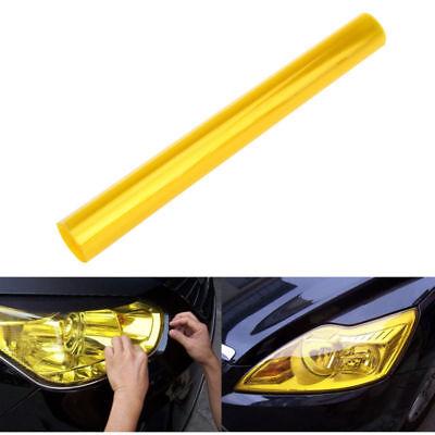 30 x 120cm Yellow Tint Film Fog Tail Light Headlight Tinting Car Van Wrap Sheet
