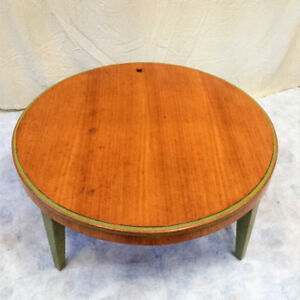 Antique Soild Wood Round Coffee Table & Small Table