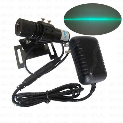 Industrial 510nm520nm 100mw Green Laser Line Module Power Adapt And Bracket