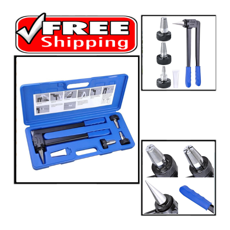 "Expansion Tool Kit Tube Expander with 1/2"" 3/4"" 1"" Expander"