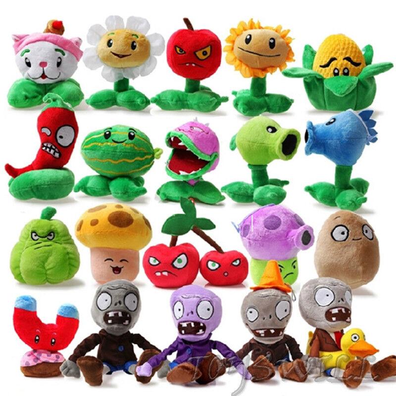 13cm-35cm Plants vs Zombies 2 PVZ Figures Plush Baby Staff Toy Stuffed Soft Doll