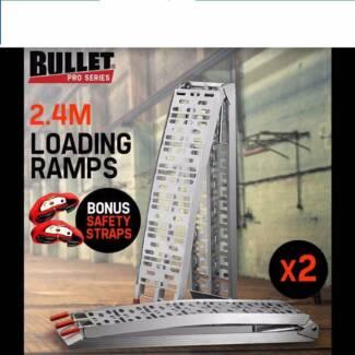 Aluminium Folding Loading Ramps ATV Quad Motorbike Trailer Ramp