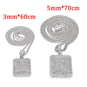 18K White Gold Plated Pendant with Necklace