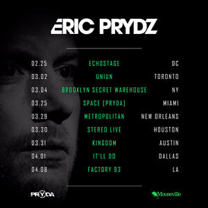 4 x Eric Prydz @ UNIUN |THURSDAY, MAR 2, 2017| GA - $100