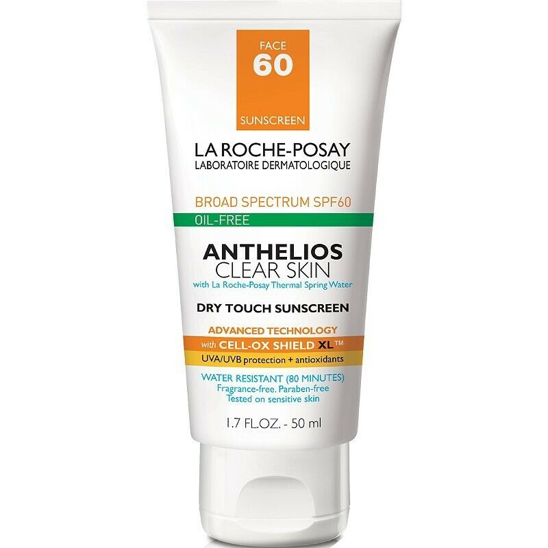 La Roche-Posay Anthelios Clear Skin SPF60 Dry Touch Sunscreen, 1.7oz EXP:2024+