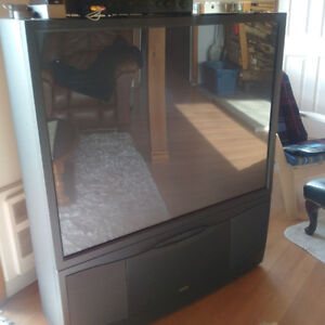 50 inch projection TV  Great for Game day, or for gaming