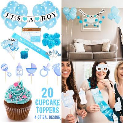 Baby Shower Party Decorations Kit: It'S A Boy Blue Theme Welcome Supplies For - Space Themed Baby Shower