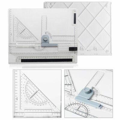 DIN A4 Zeichenbrett L-Lineal Geodreieck Zeichenplatte Zeichenschiene ()