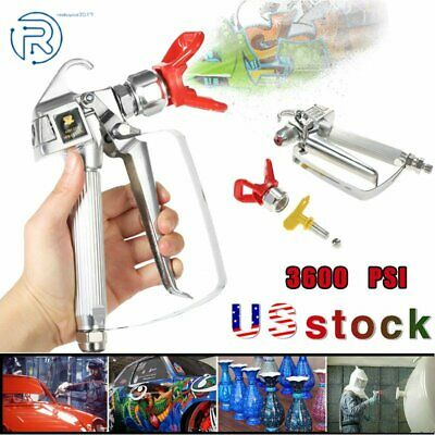 3600 Psi Spray Gun With 517 Tip Guard Airless Paint For Sprayer Us