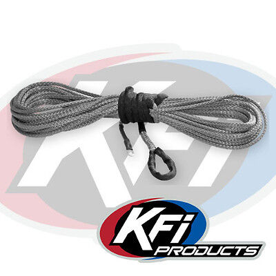 """KFI Products ATV Synthetic Winch 1/4"""" x 50' Plow Cable Rope - SMOKE - SYN25-S50"""