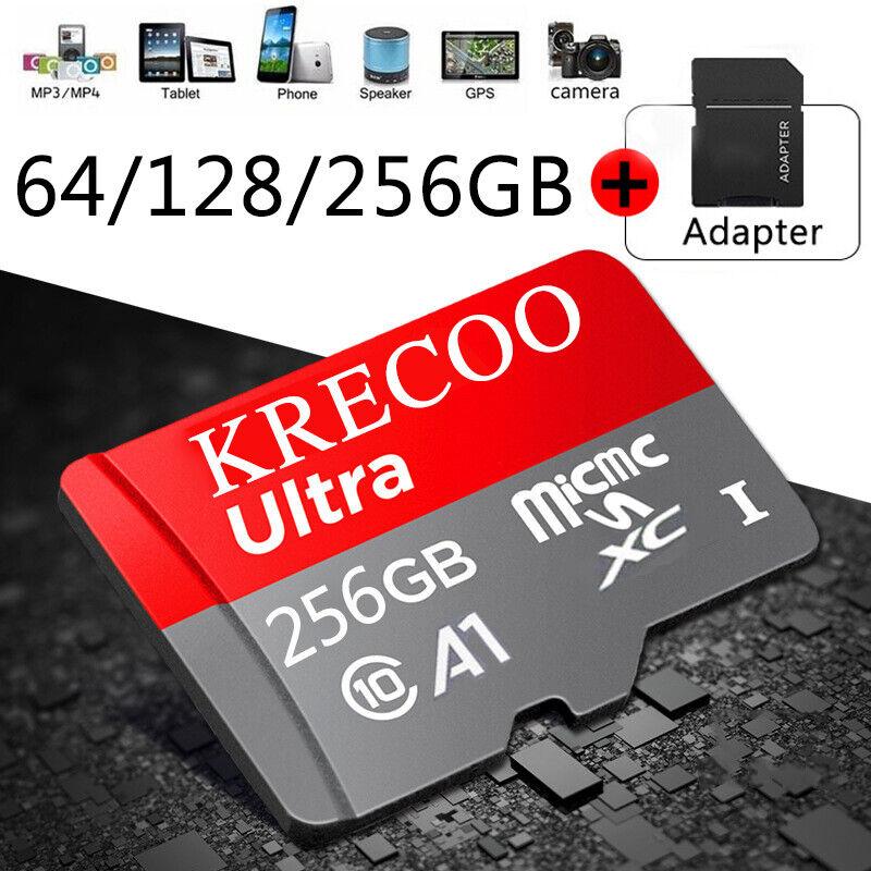 NEW 64GB/128GB/256GB Memory Card Class10 Fast Flash TF for Camera & Phone & Car