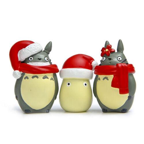 3pcs Studio Ghibli My Neighbor Totoro Xmas Modeling Figure Decoration Toy Gift