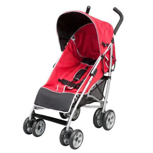 Stroller Delta - Ultimate Convenience Stroller, Black/Red