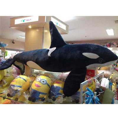 51 Giant Huge Whale Plush Toy Big Stuffed Black Shark Doll Christmas Present New