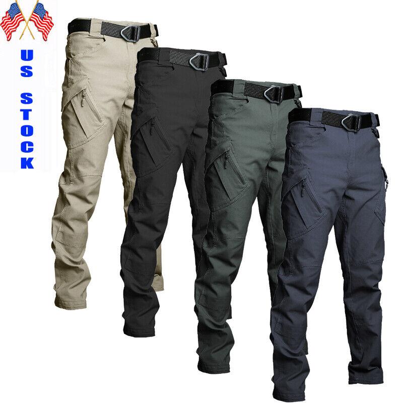 Us Soldier Tactical Waterproof Pants Mens Cargo Work Pants Combat Hiking Outdoor