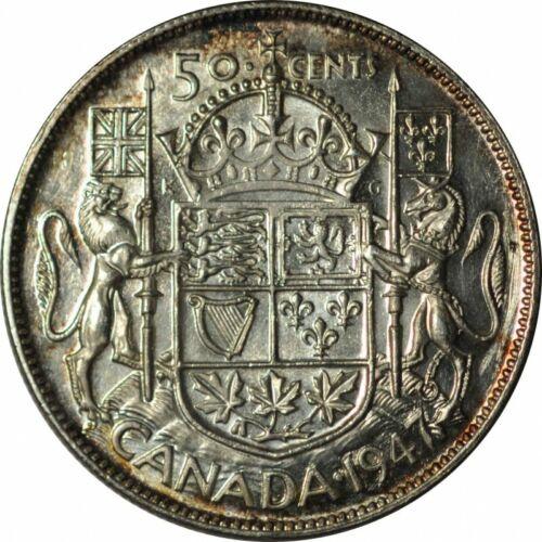 1947 C7R Canada Half Dollar 50 Cents CH BU - Gorgeous Golden Tone! - c212qcut