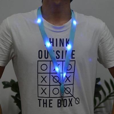 Led Lanyards (1Pc LED Light Up Neck Strap Band Lanyard key chain ID card Hanging Lace Rope)