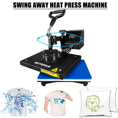 9x12swing Away Digital Heat Press Machine Transfer Printing Diy T-shirt Flat