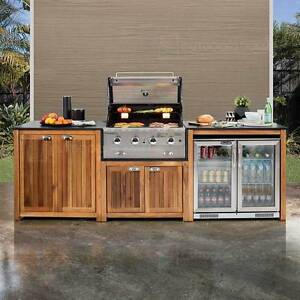 Gasmate Arcadia Timber 4 Burner Outdoor Kitchen Mount Waverley Monash Area Preview