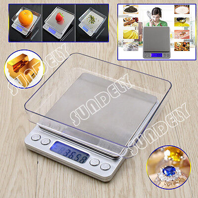0.01-500g Digital Kitchen Food Scale Electronic Balance Weight Postal Scales New
