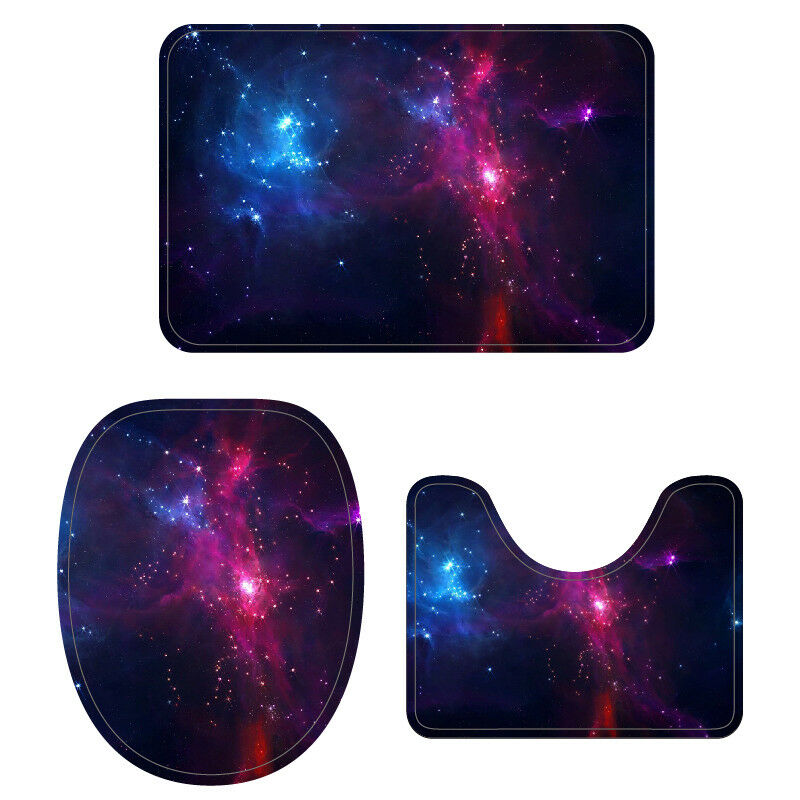 Stupendous Details About Galaxy Toilet Seat Covers Bathroom Rugs 3Pcs Set Pedestal Rug Lid Toilet Cover Theyellowbook Wood Chair Design Ideas Theyellowbookinfo