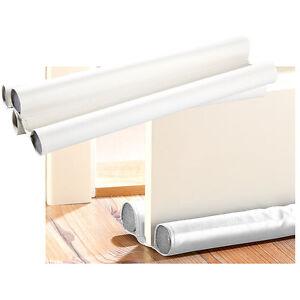 infactory Kunstleder-Zugluft-Stopper für Türen bis 60 mm Dicke, weiß