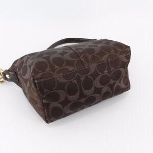 Coach Brown Metallic Signature Logo Studded Handbag Small 42099 London Ontario image 6
