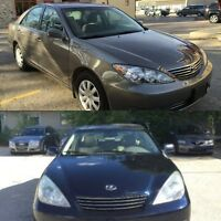 2006 Toyota Camry LE & 2003 Lexus ES300 FINANCING AVAILABLE