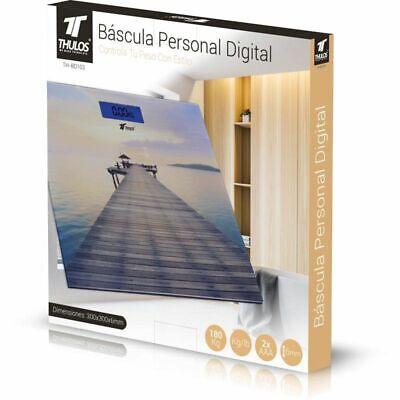 Bascula de Baño Digital 180KG Cuadrada de Cristal Precisión y Libras Autoapagado