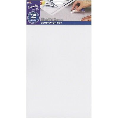 "Simply Stencils Value Pack 10""X18"" & 8""X10"" 2/Pkg-Blank"