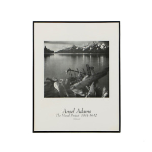 Ansel Adams wall pictures in black metal frame