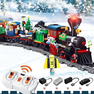 826PCS Christmas Village City Train tree mini figures Building Blocks LEGO Brick