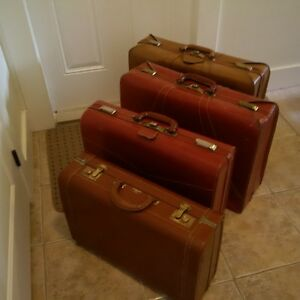 Leather luggages