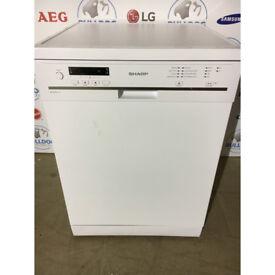 Sharp QWG472W 60cm Full Size Dishwasher - White