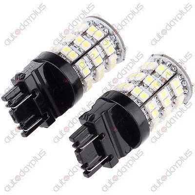 1 Pair White 3157//3057//3457 LED Bulbs Reverse Stop BackUp Tail Brake Parking