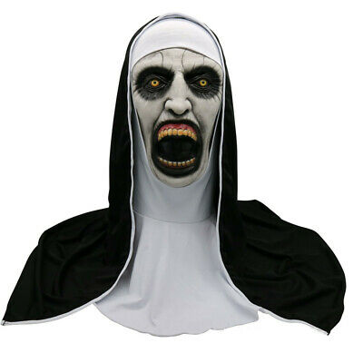 The Ghost Nun Facial Latex Mask Horror Scary Costume Halloween Cosplay Props (Scary Nun Mask)