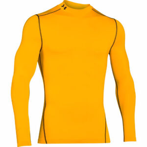 [BNWT] [M] Under Armour Cold Gear Compression Mock Gold / Yellow