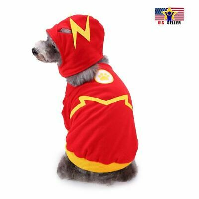 Cheap Halloween Costumes For Dogs (Flash Pattern Dog Cat Pet Costume Dress Clothes Outfit Vest Halloween)