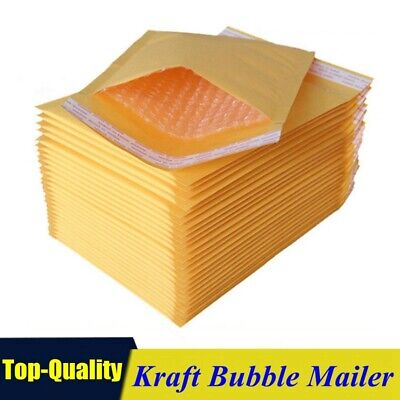 Kraft Bubble Mailers Padded Self Seal Shipping Bags Envelopes Multiple Sizes ()
