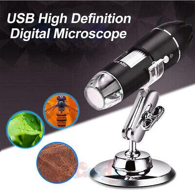 0x-1000x 8 Led Digital Microscope Camera Handheld Usb Magnification Endoscope