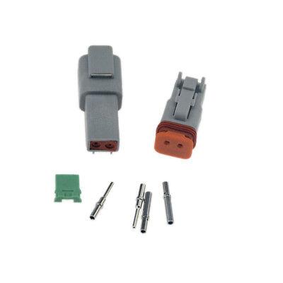 5sets Deutsch 2 Pin Waterproof Electrical Wire Connector Plug Dt06-2s 16-18 Ga