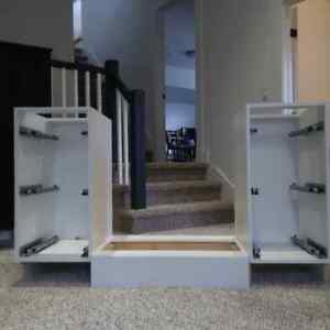 brand new white high gloss cabinets