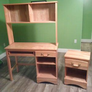 Desk, and end table for sale