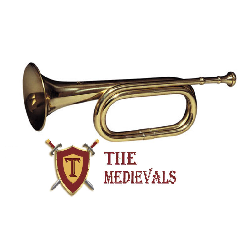 "Calvery Brass army military funeral taps  b-flat bugle 13"" with mouthpiece"