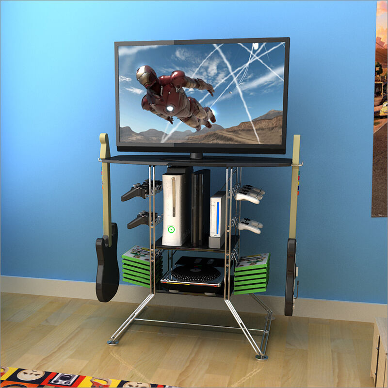 Games Console Stand Tv Unit Storage Xbox 360 Xbox One