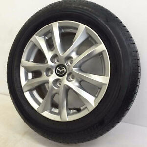 "2016 Mazda 3 OEM 16"" Factory Wheels & Bridgestone Ecopia Tires"