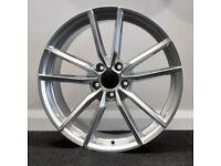 "19"" Pretoria Style Silver Alloy Wheels.Suit Audi A3,VW Caddy,Golf,Jetta, Passat,Seat Leon 5x112"