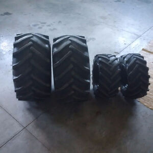 2pc. 26x12-12, and 2pc. 18x8.50-10 ag tires on wheels